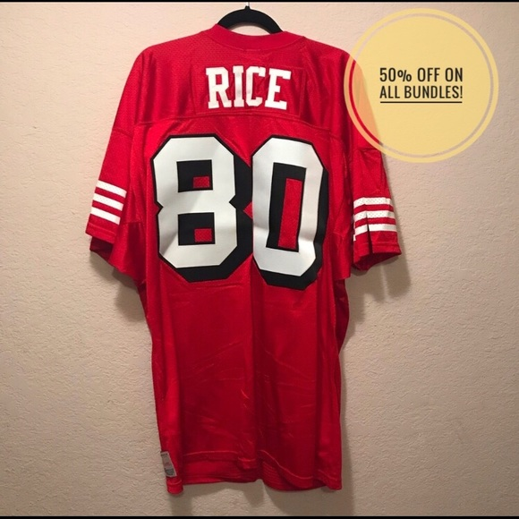 buy online 9affd d54bd Authentic SF 49ers Jerry Rice #80 jersey. 75 NFL.